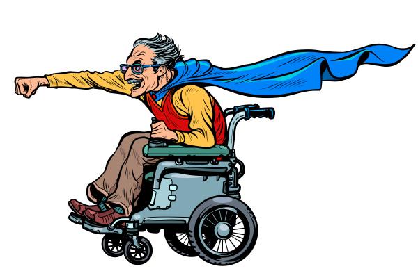aktiver rollstuhlfahrer behindert mann