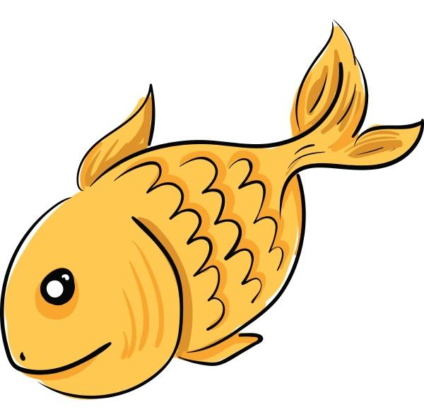 goldfische schwimmen im wasservektor oder farbe