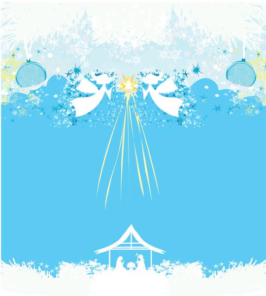 weihnachtsengel weihnachten religioese krippe karte
