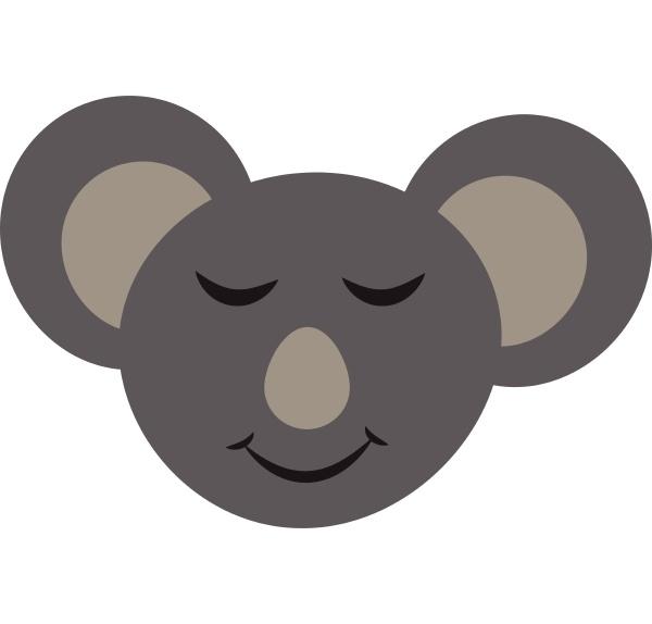 coole koala baer vektor oder farbe