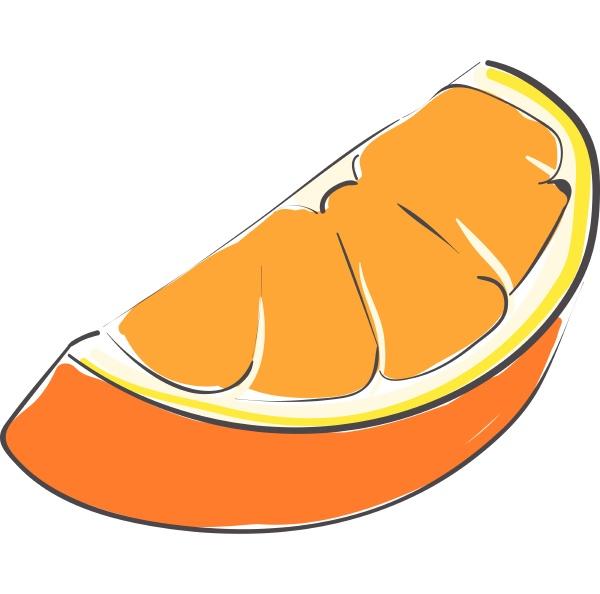 stueck orangefarbener vektor oder farbillustration