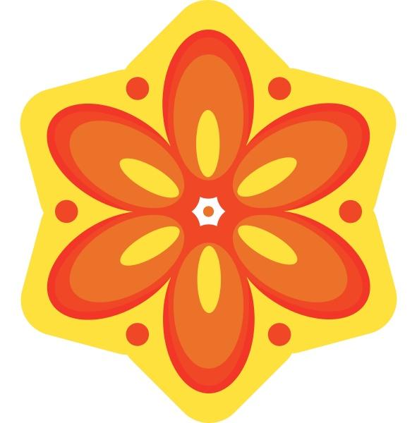 eine gelbe farbe blume und orange