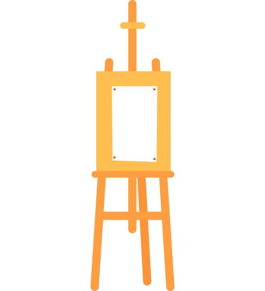 ein staffelei set vektor oder farbabbildung