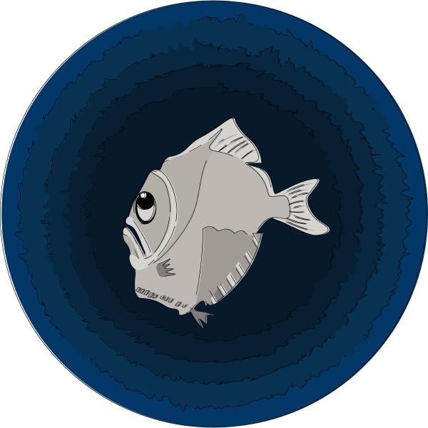 ein grauer hatchetfish vektor oder farbabbildung