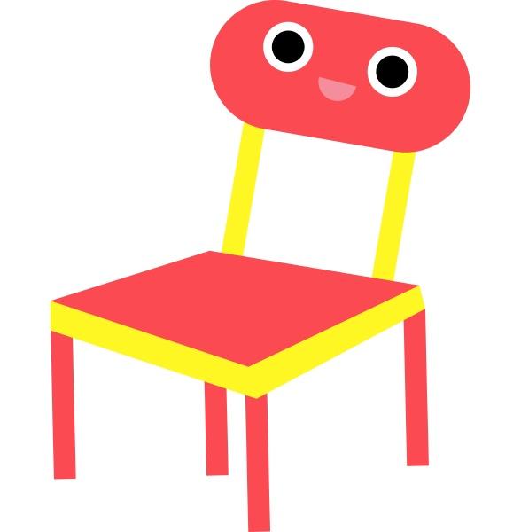emoji eines laechelnden roten stuhlscartoon stuhl