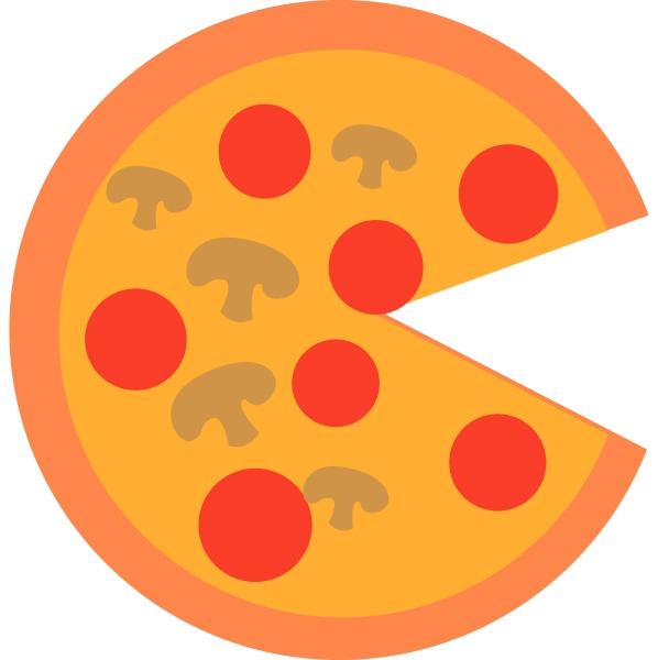 bild von pizza vektor oder farbe