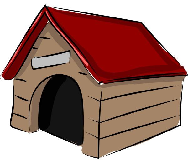 hundehaus illustration vektor auf weissem hintergrund