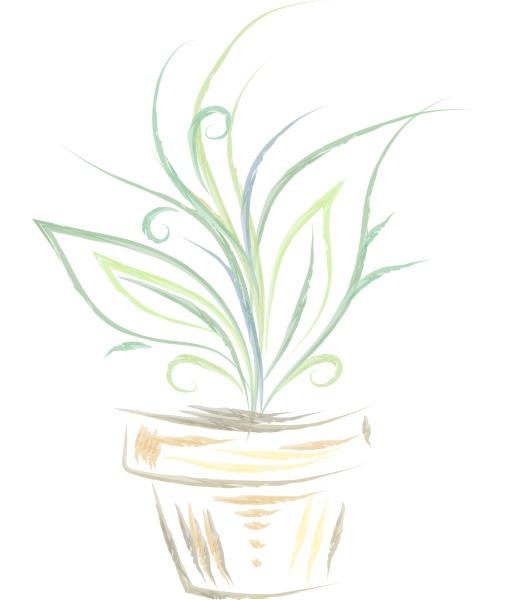 silhouette einer pflanze vektor oder farbe