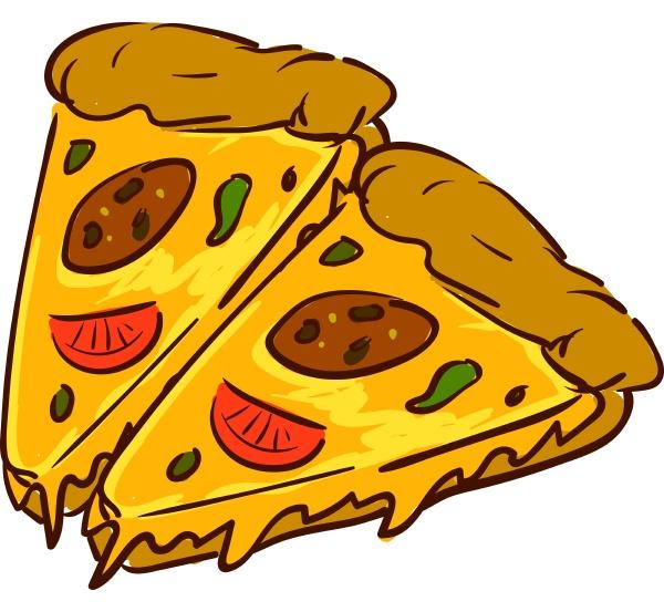 scheiben von pizza vektor oder farbe