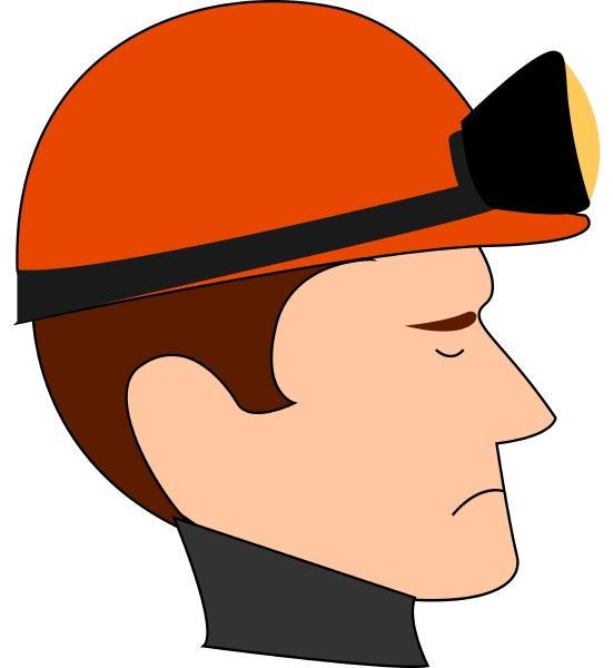 bergmann mit rotem helm illustration vektor