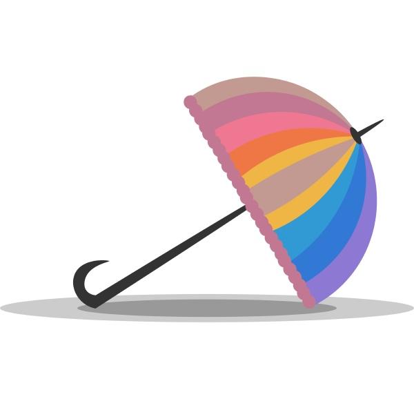 clipart eines ansprechenden gefalteten bunten regenbogenschirms
