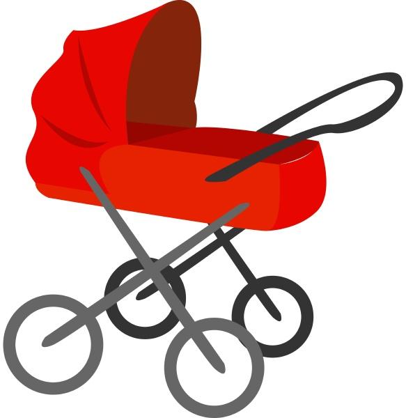 roter kinderwagen illustration vektor auf weissem
