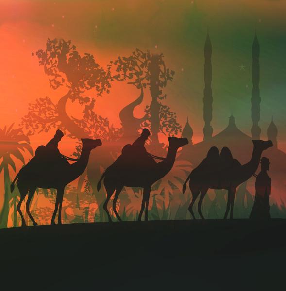 kamele und drei weise