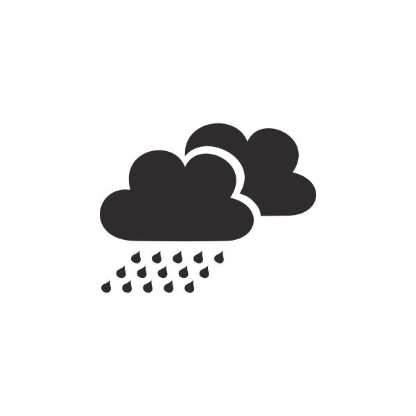 regen mit wolken isoliertes symbol wettervektor