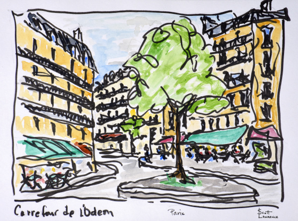 carrefour de lodeon paris frankreich