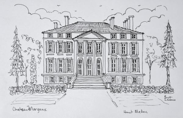 empire stil architektur des chateau margaux