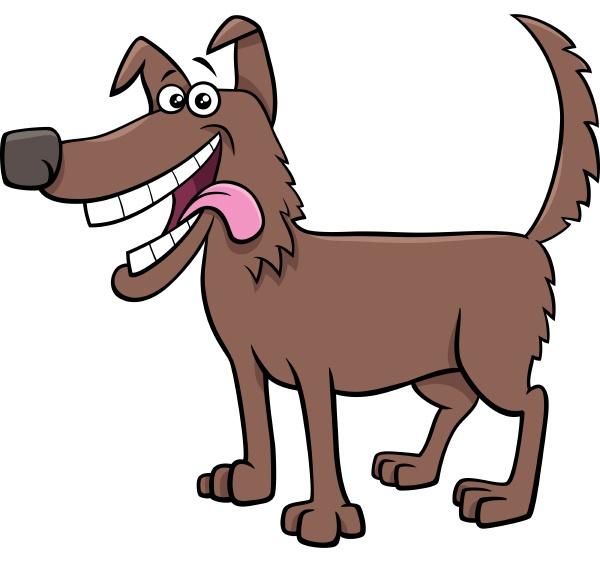 cartoon gluecklicher hund tier charakter