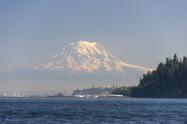 usa washington state tacoma blick auf