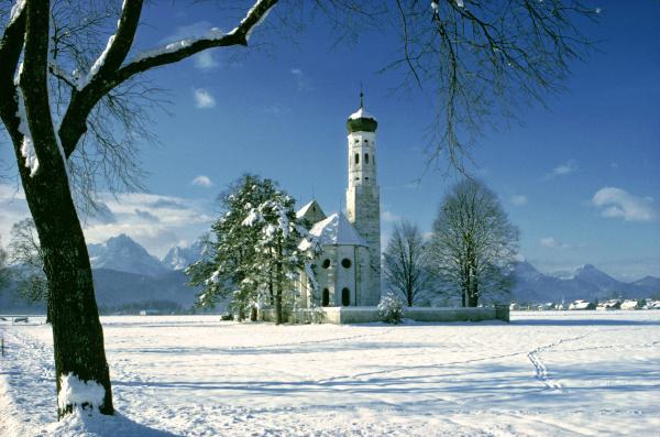 deutschland bayern st coloman es church