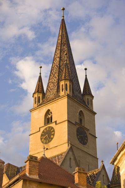 die evangical pfarrkirche von sibiu altstadt