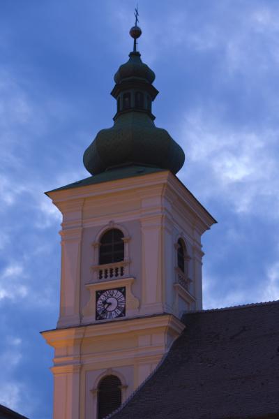 rumaenien sibiu uhrenturm in der altstadt