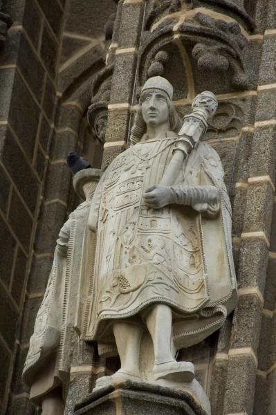 spanien kastilien la mancha toledo statuen