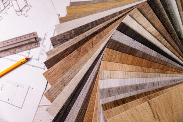 moebellaminat materialmuster und innenarchitekturplaene