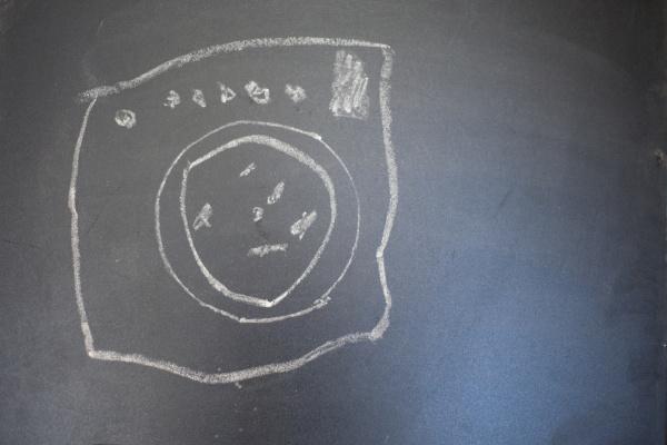 wash, machine, on, a, blackboard - 27960275