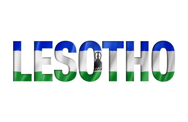 lesotho flagge text font