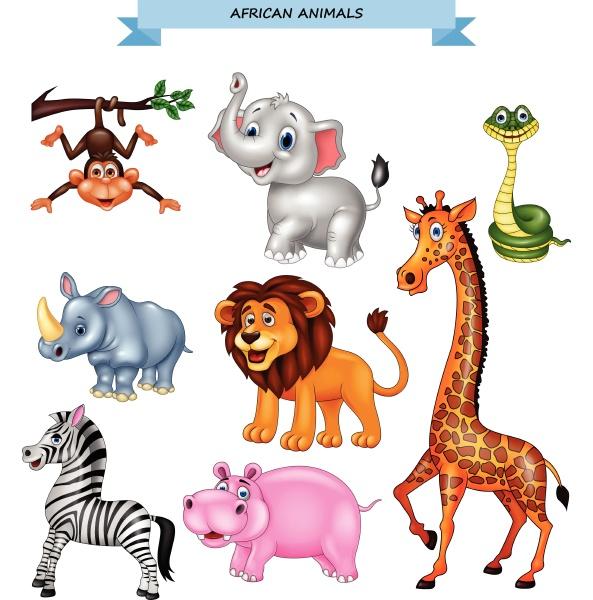 cartoon afrikanische tiersammlung