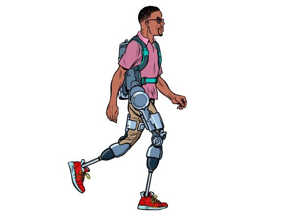 exoskelett fuer behinderte afrikanischen mann beinlosen