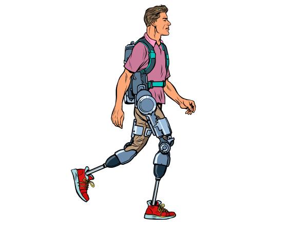exoskelett fuer behinderte ein mann legless
