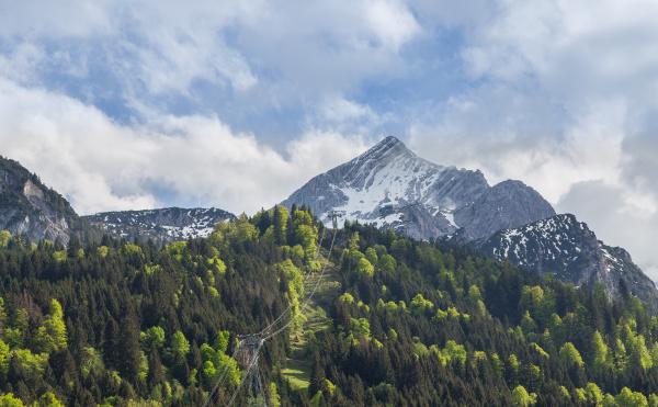 alpspitze garmisch partenkirchen bayern deutschland