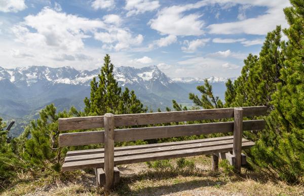 alpenpanorama, mit, sitz, garmisch, partenkirchen, bayern - 28001875