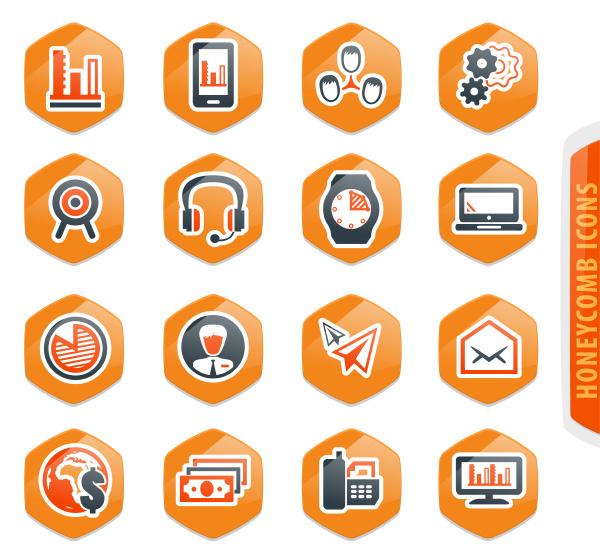 business management und personal icons gesetzt