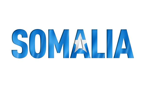 somalische flagge textschriftart