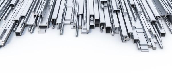 metallprofile in verschiedenen formen und groessen