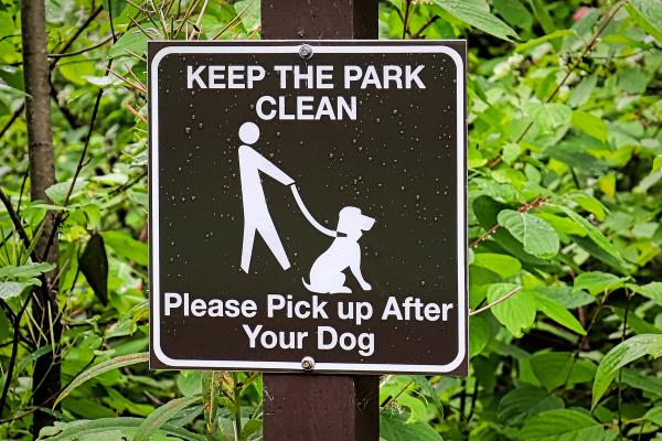 a halten sie den park sauber