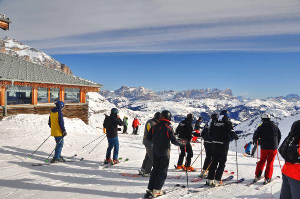 skifahren, in, südtirol - 28140820