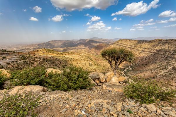 AEthiopische landschaft AEthiopien afrika wildnis