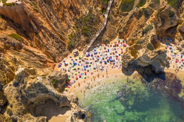 luftaufnahme von lagos portugal