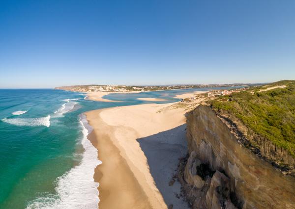 luftaufnahme von praia da foz do
