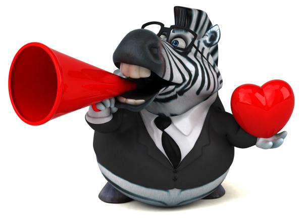 spass zebra 3d illustration