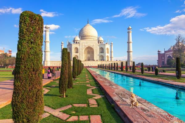 schönes, taj, mahal, mausoleum, in, agra, indien - 28194043