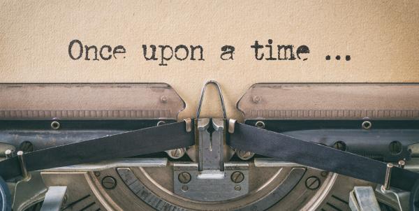 text geschrieben mit einer vintage schreibmaschine
