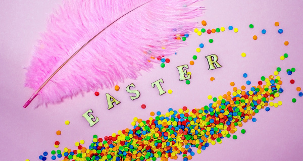 abstract, easter, card, with, scattered, color - 28215699