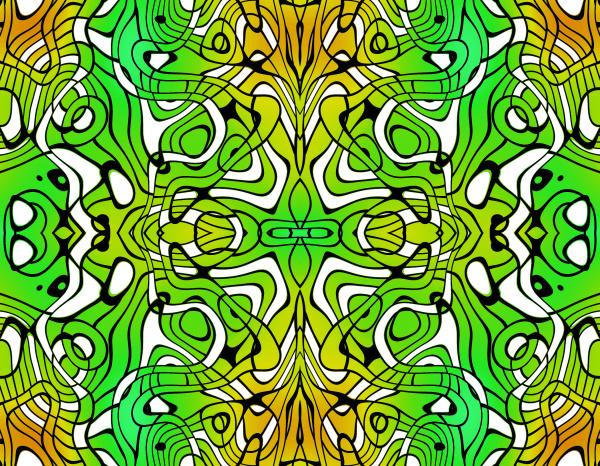 allover, wiederholende, muster, fliesen, grün, gelb - 28215363