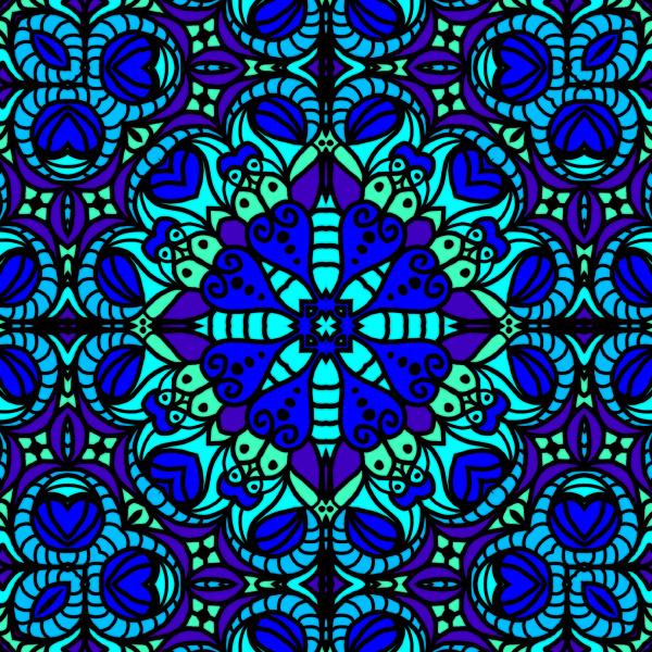 blue, green, allover, pattern, tile - 28215346