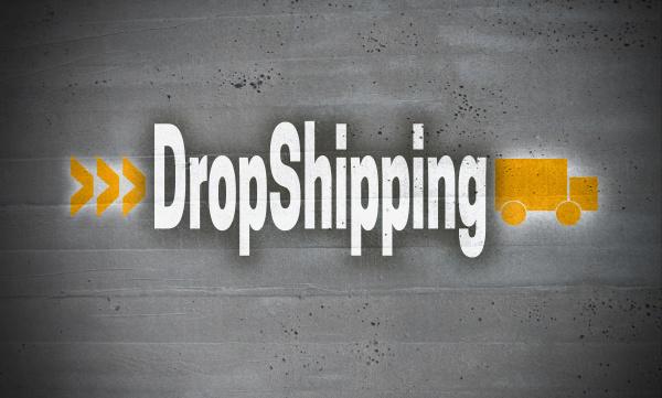 dropshipping, auf, betonwandhintergrund - 28215789