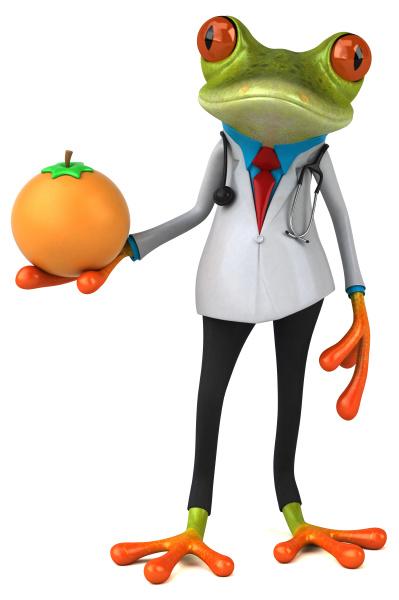 frog, doctor, -, 3d, illustration - 28218058
